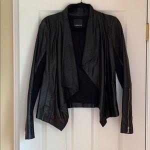 Nordstrom's Trouve Black Leather Jacket Size M
